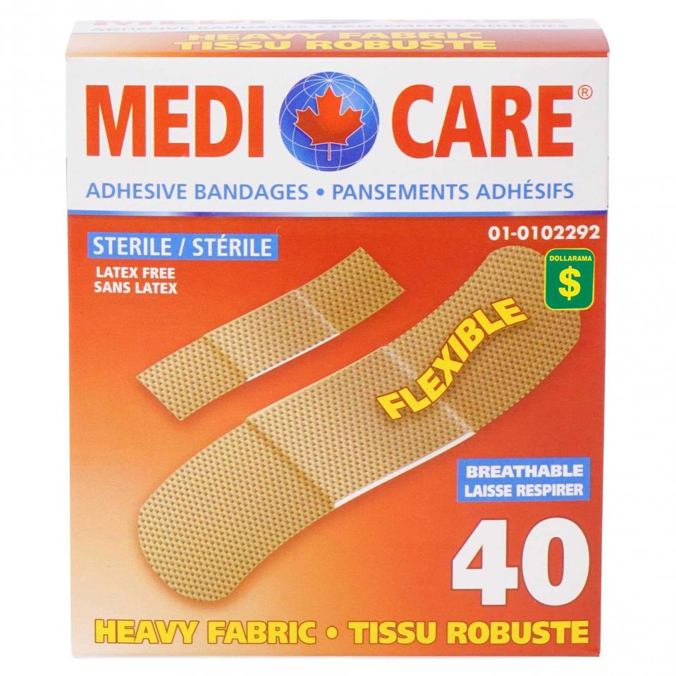 40PK Heavy Fabric Adhesive Bandages