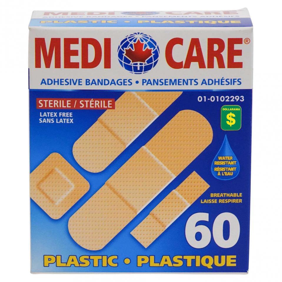 60PK Water Resistant Adhesive Bandages