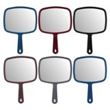 Large Rectangular Hand Mirror (Assorted Colours) - 1