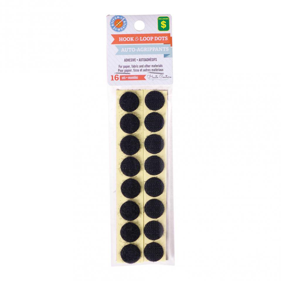 Hook & Loop Dots 16PK (Assorted Colours)