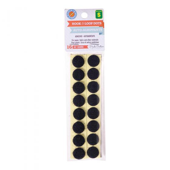 16PK Hook & Loop Dots (Assorted Colours)