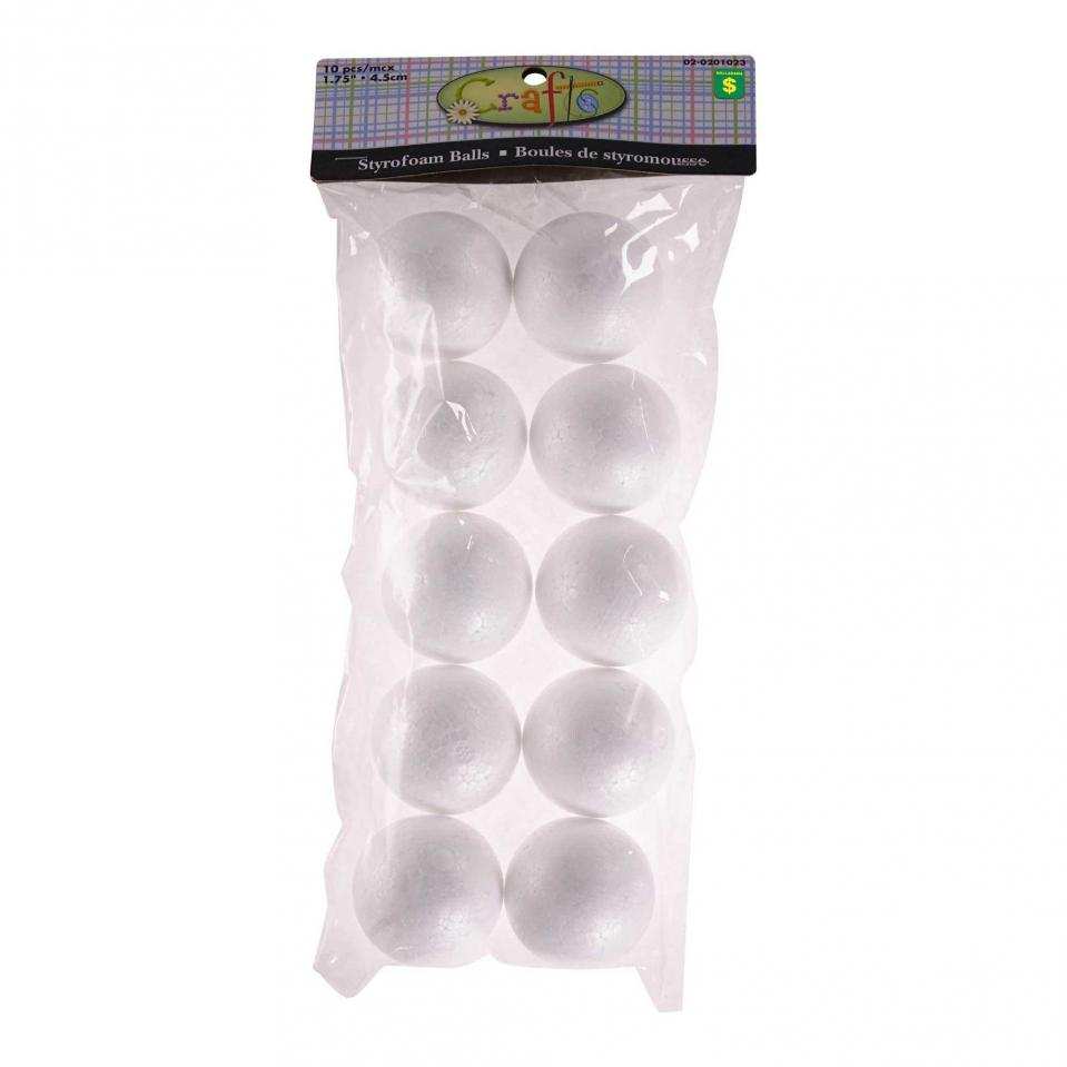 Styrofoam Balls 10PK (Assorted Sizes)