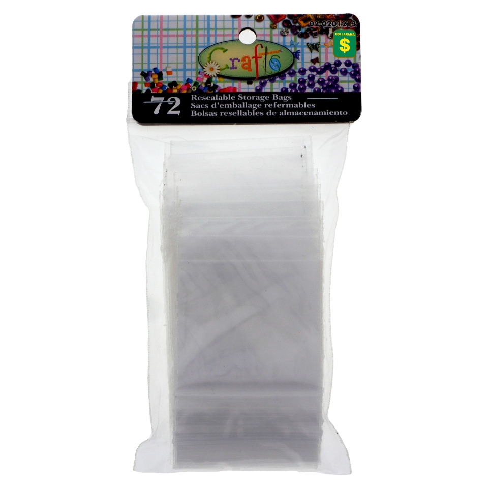 72 Resealable Craft Storage Bags