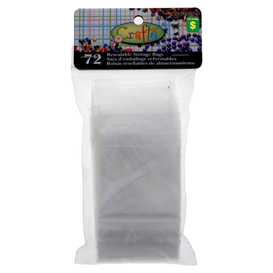 72 Sacs d'emballage refermables pour artisanat