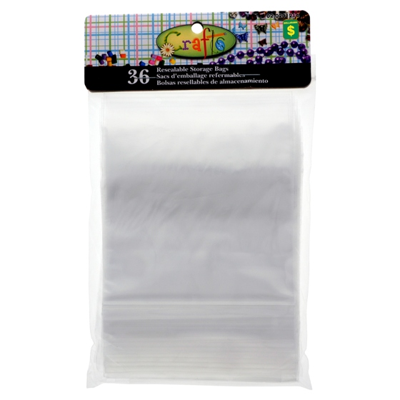 36 Resealable Craft Storage Bags