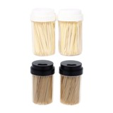 Bamboo Toothpicks with Dispensers 500PK - 1