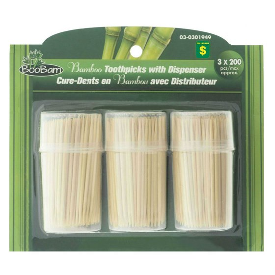 Bamboo Toothpicks with Dispensers 600PK