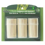 Bamboo Toothpicks with Dispensers 600PK - 0