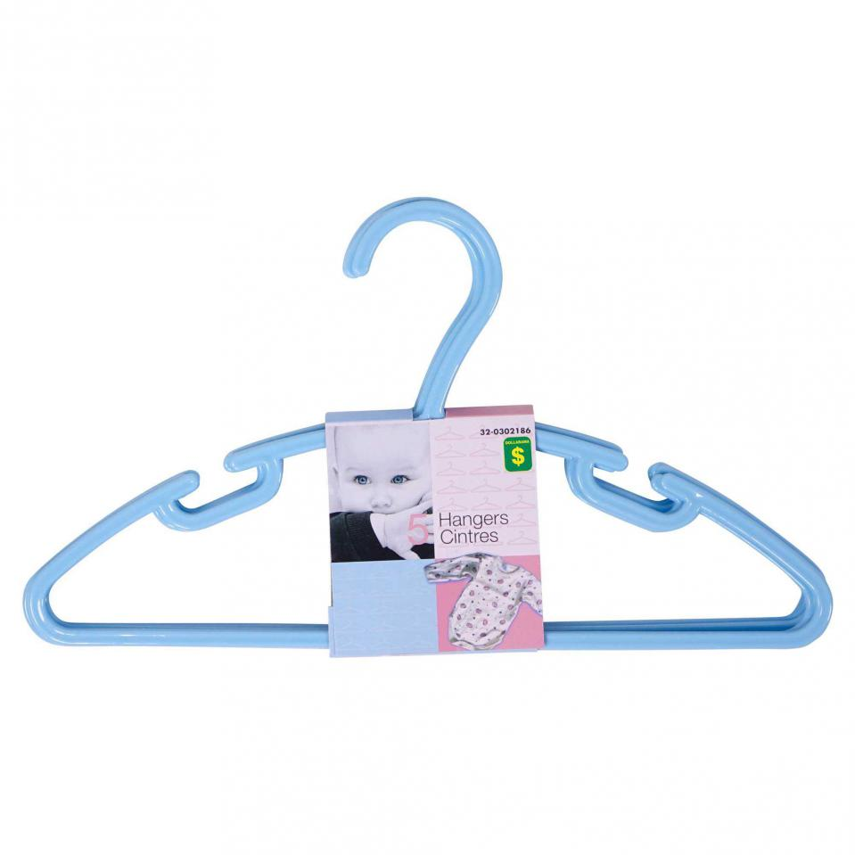 5PK Children's Plastic Hangers (Assorted colours)