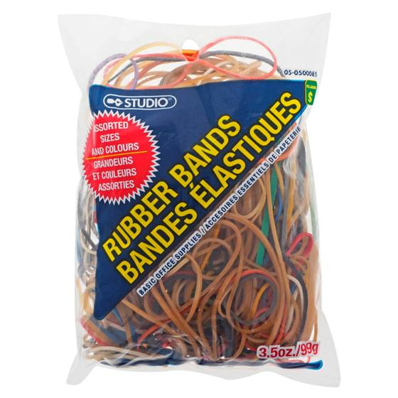Rubber Bands (Assorted sizes and Colours)