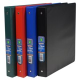"1"" 3-Ring Binder (Assorted Colours) - 1"