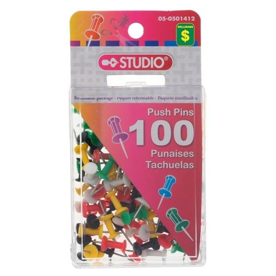 100 Push Pins