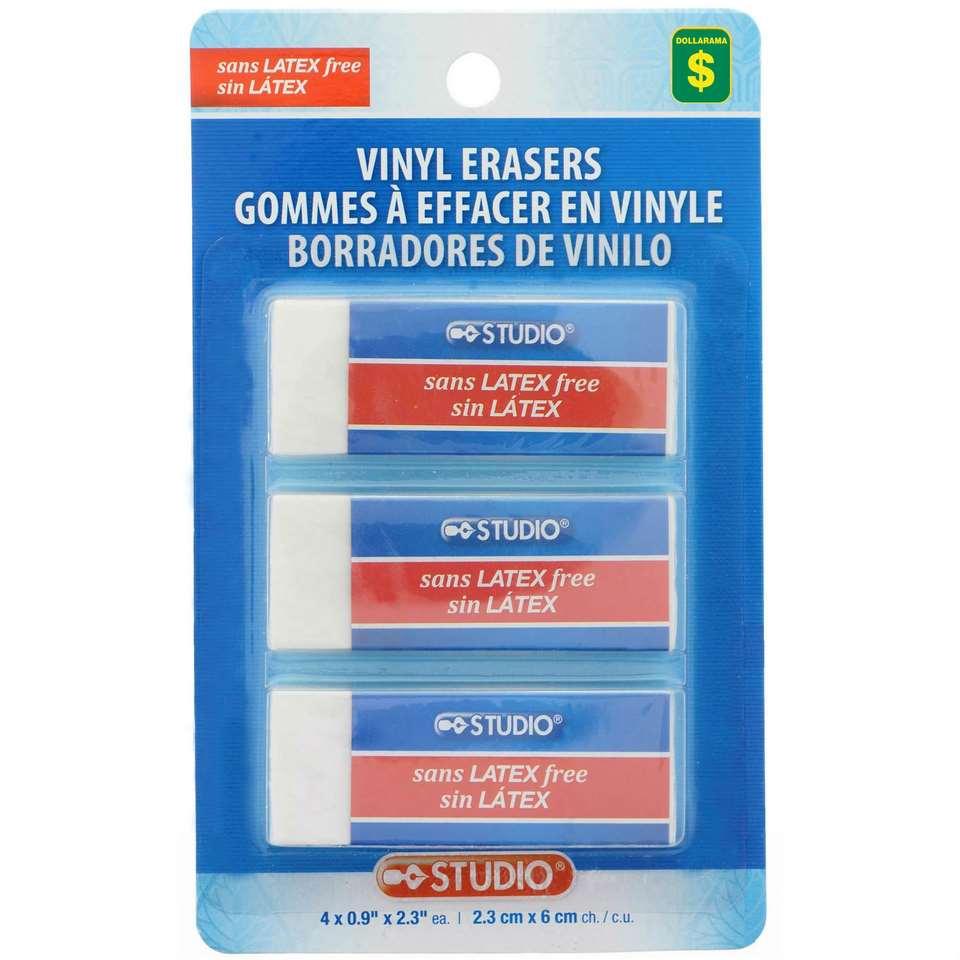 Vinyl Erasers 3PK