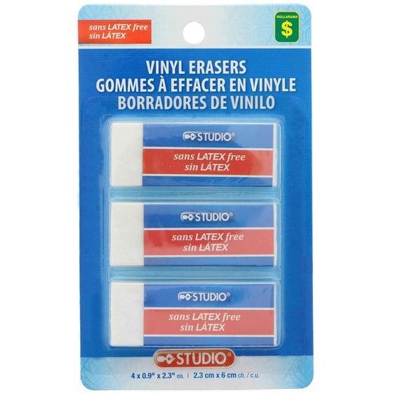 3PK Vinyl Erasers
