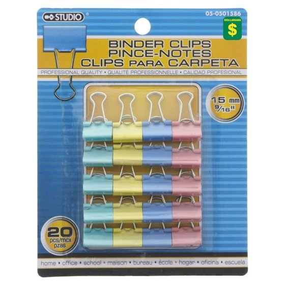 Binder Clips (Assorted sizes and quantities)