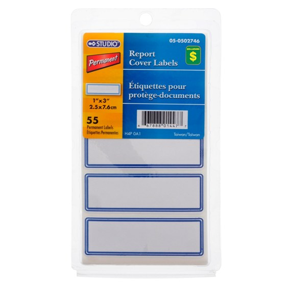 55PK Report Cover Labels (Assorted Colours)