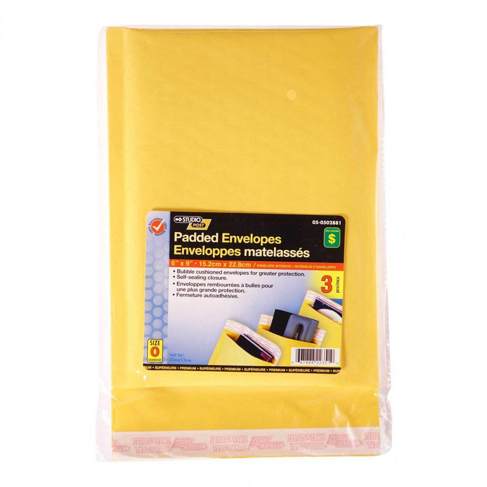 "Padded Envelopes 6""x9"", 3PK"