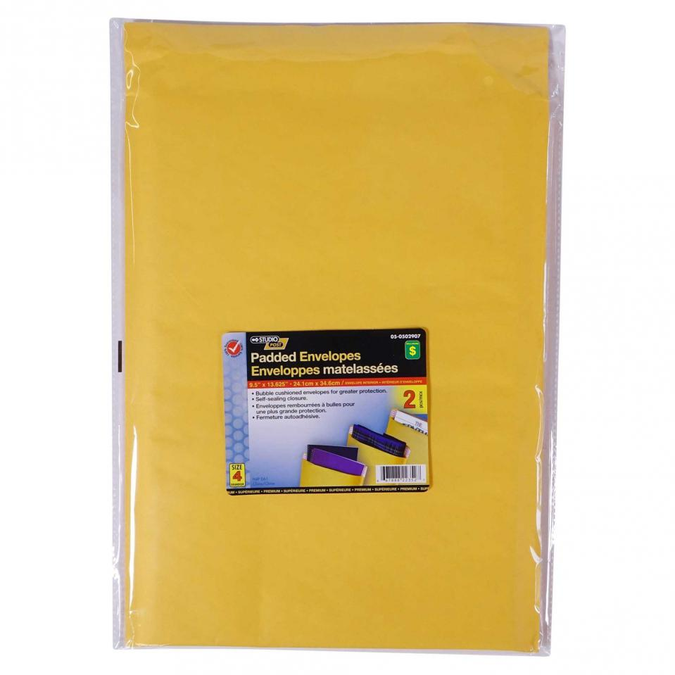 "2PK Padded Envelopes 9.5""x13.625"""