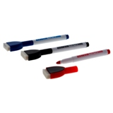 Dry-Erase Markers with Built-in Eraser 3PK (Assorted Colours) - 1
