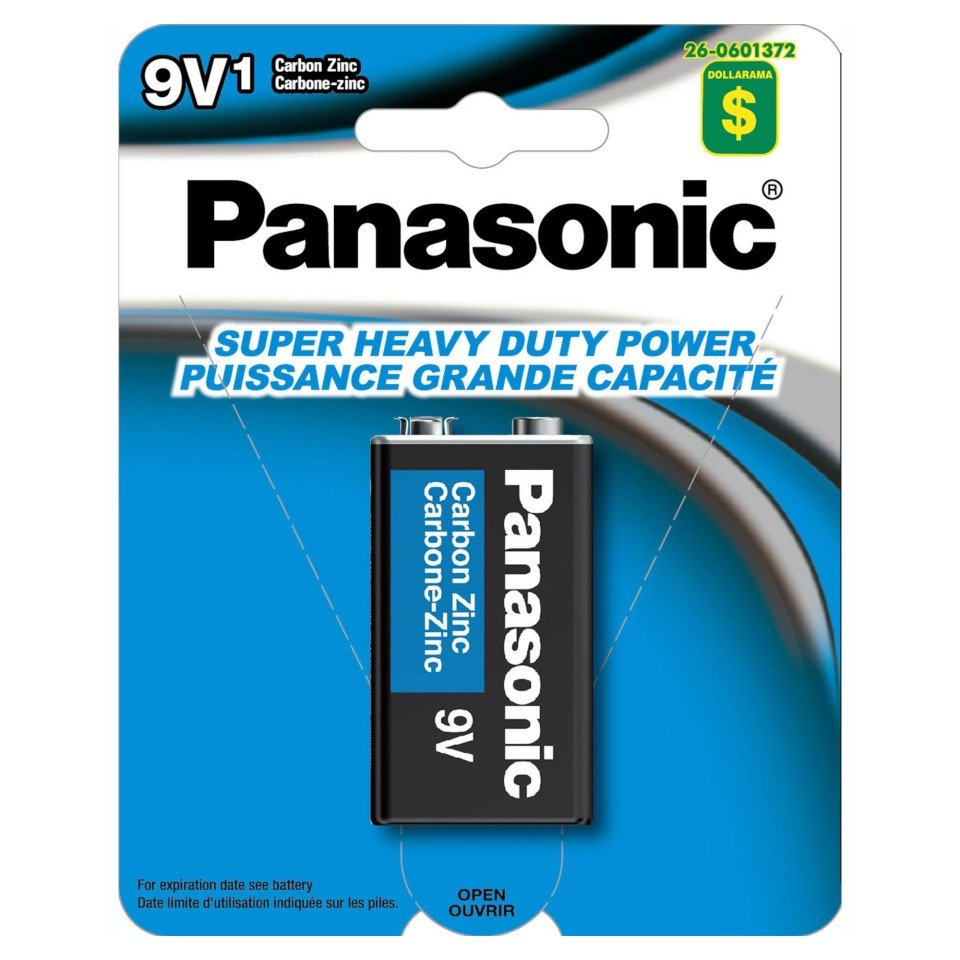 9V Carbon Zinc Battery
