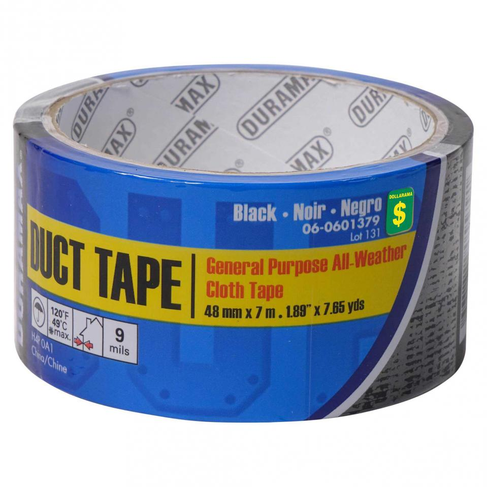 Duct Tape - Black General Purpose Cloth Tape