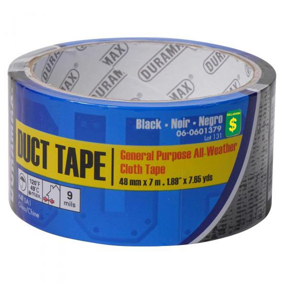 Duct Tape - Ruban adhésif en toile noir