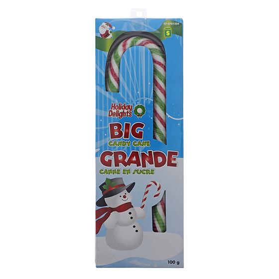Grande canne en bonbon de Noël