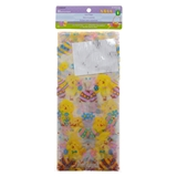 25Pk Easter Cellophane Bags With Ties - 0