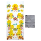 25Pk Easter Cellophane Bags With Ties - 1