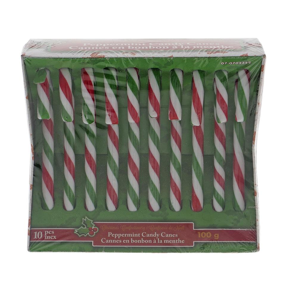 10Pk Christmas Mint Candy Cane