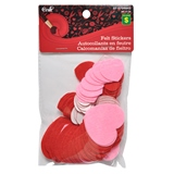 Valentine Self-Adhesive Felt Stick-On Hearts - 0