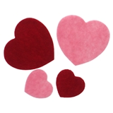 Valentine Self-Adhesive Felt Stick-On Hearts - 1