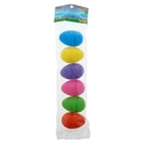 6 PK Coloured Large Fillable Eggs - 0