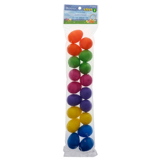 18 PK Coloured Small Fillable Eggs