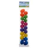 18 PK Coloured Small Fillable Eggs - 0