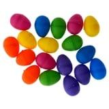 18 PK Coloured Small Fillable Eggs - 1