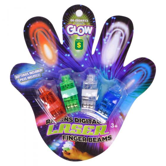 Laser Finger Beams 4PK (Assorted Colours)