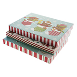 Gift Box Small Foldable 3PK (Assorted Colours and Patterns) - 0