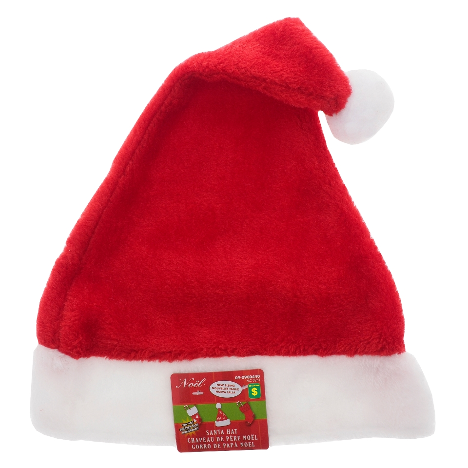 Adult Plush Red Santa Hat