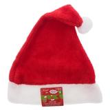 Adult Plush Red Santa Hat - 0