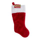 Christmas Plush Stocking with White Cuff - 0