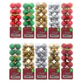 Christmas Tree Ornament Balls 12PK (Assorted Colours and Patterns) - 1