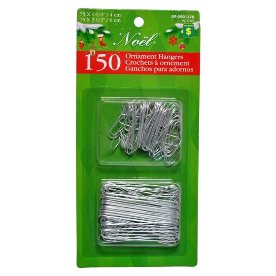 150 Xmas Wire Ornamen Hooks
