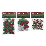 Craft Pom Poms With Tinsel 15Xlarge 50Xmed 100Xsmall - 1