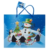 Grand sac à cadeau à motifs de Noël (Couleurs et motifs assortis) - 0