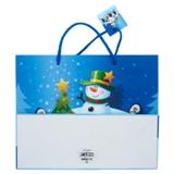 Grand sac à cadeau à motifs de Noël (Couleurs et motifs assortis) - 2