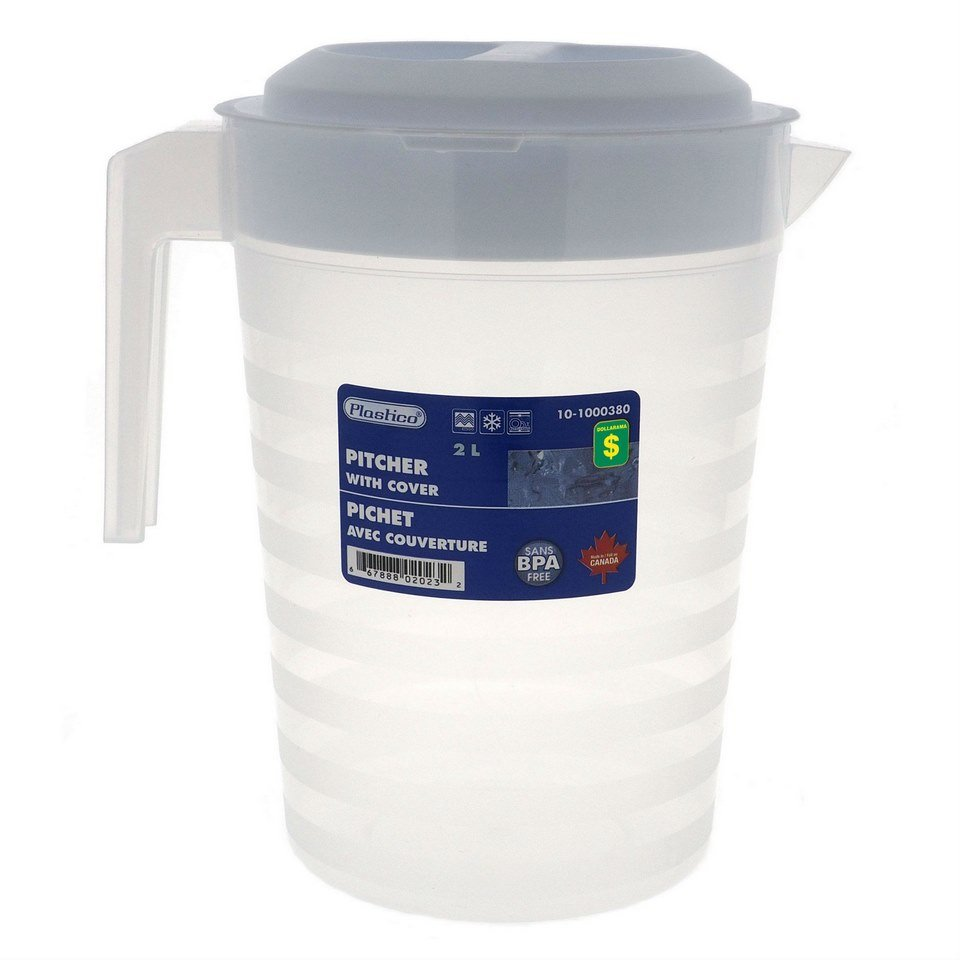 Plastic Pitcher with Cover