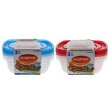 3PK Food Containers (Assorted colours) - 1