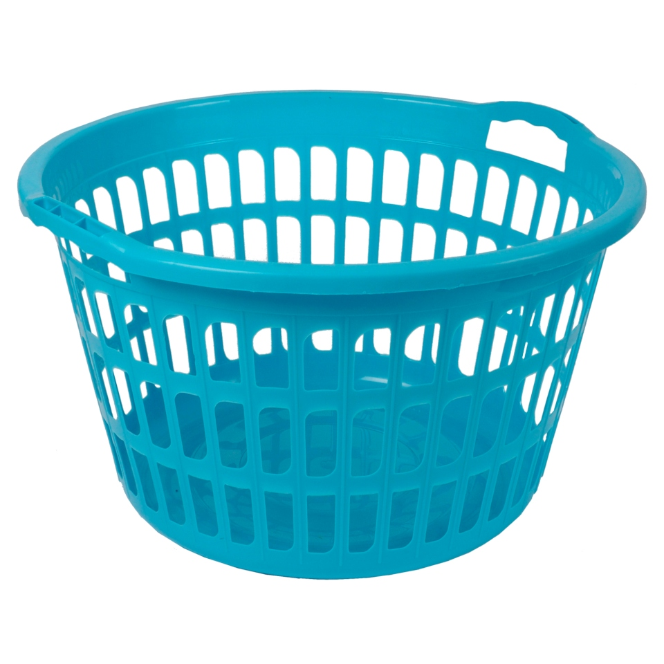 Plastic Laudry Basket (Assorted colours)