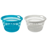 Plastic Laudry Basket (Assorted colours) - 1